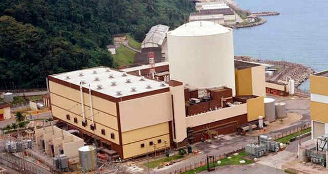 Central Nuclear Almirante Álvaro Alberto (Angra 1), situada no município de Angra dos Reis, Rio de Janeiro.