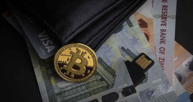 bitcoin cédulas dinheiro carteira