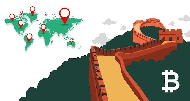 bitcoin china mundo mapa cbdc