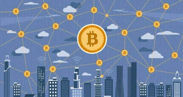 bitcoin cidade rede conexão interligado tecnologia