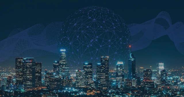 cidade tecnologia conexão rede planeta