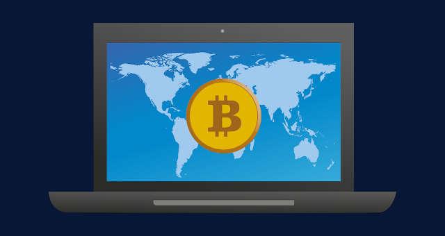 computador bitcoin rede mundo mapa planeta tecnologia conexão