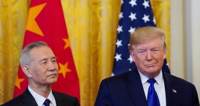 Donald Trump, e vice-premiê chinês, Liu He