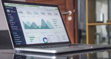 estatística computador gráfico análise portfólio investimento