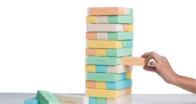 jenga desafio risco blocos
