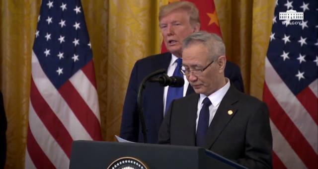 Liu He e Donald Trump