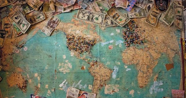 mapa dinheiro
