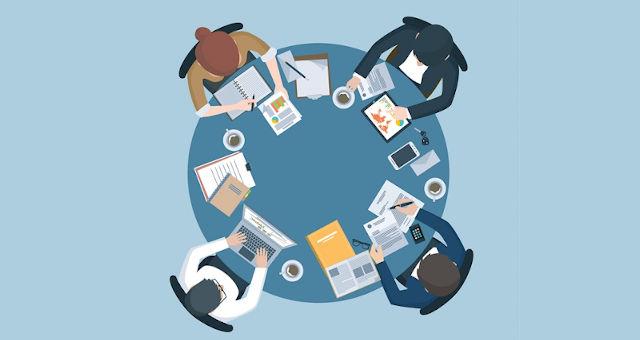 negócios empresa empresários funcionários reunião