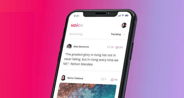 voice block one rede social aplicativo