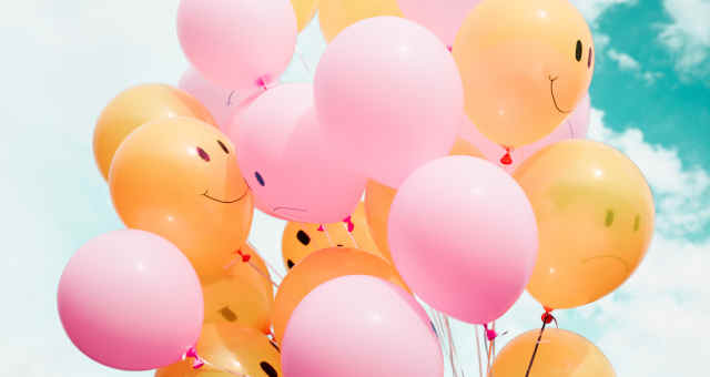 Balões, felicidade, alegria, alta, valorização, confiança