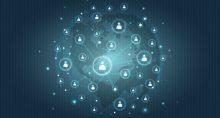 rede blockchain ligação mundo planeta conexão