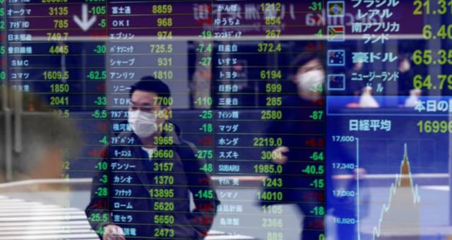 Mercados Ásia Máscaras Coronavírus