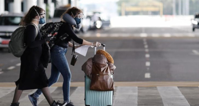 Máscaras Coronavírus Turismo Aeroporto