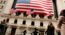 Wall Street EUA Bandeira Mercados
