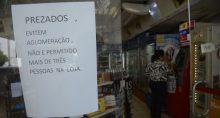Coronavírus, loja, aviso