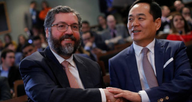 Ernesto Araujo embaixador da China no Brasil, Yang Wanming