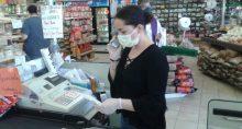 Consumo Coronavírus Máscara Supermercado