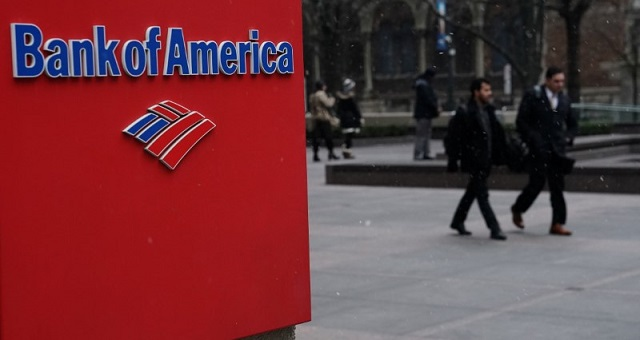 Logo do Bank of America (BofA) em Nova York