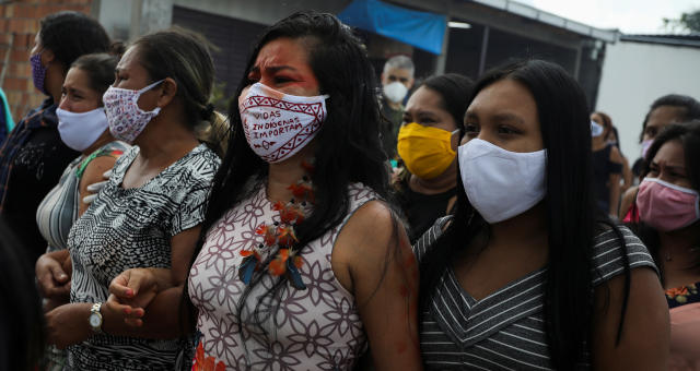 Índios Indígenas Coronavírus Máscaras