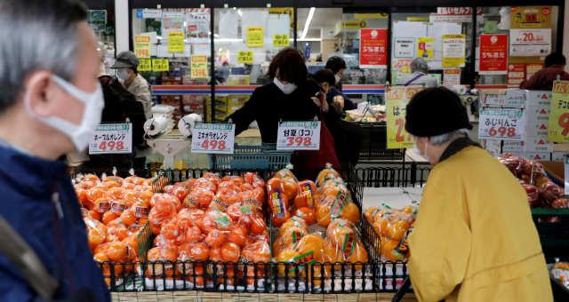 Consumo Supermercados Ásia Coronavírus Máscara Alimentos