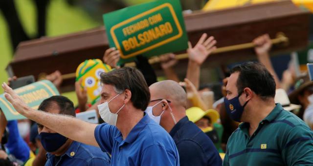 Jair Bolsonaro Coronavírus Máscara Manifestações Protestos