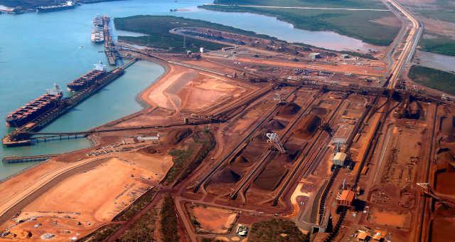Portos Austrália Minério de ferro Mineração