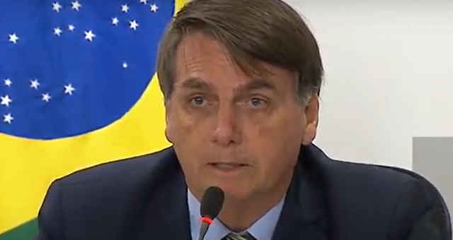 Presidente Jair Bolsonaro em reunião com governadores em 21 de maio de 2020