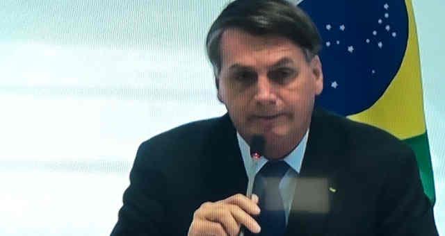 Jair Bolsonaro, na reunião ministerial de 22 de abril de 2020
