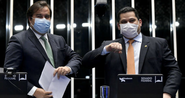 Rodrigo Maia e Davi Alcolumbre