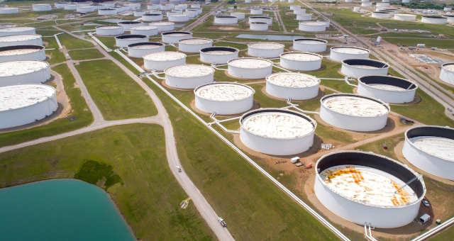 Tanques de armazenamento de petróleo