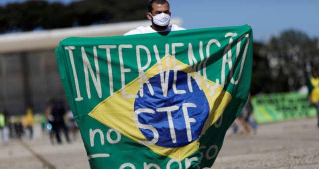 Apoiador do presidente Jair Bolsonaro