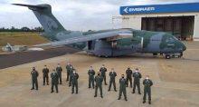 Entrega do terceiro avião cargueiro KC 390 da Embraer à Força Aérea Brasileira