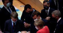 Angela Merkel, Emmanuel Macron, Pedro Sanchez União Europeia