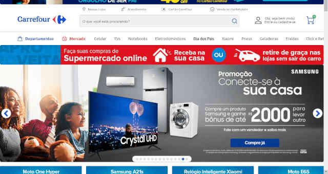Site do Carrefour online digital e-commerce
