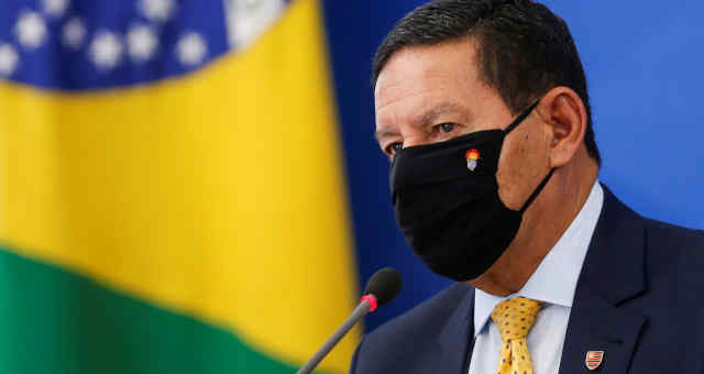 Vice-presidente Hamilton Mourão no Palácio do Planalto