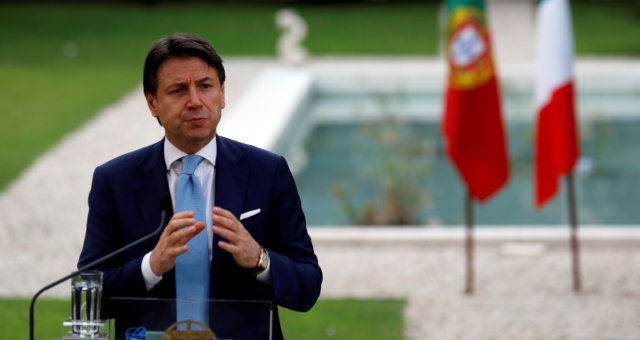 O primeiro-ministro da Itália, Giusepe Conte