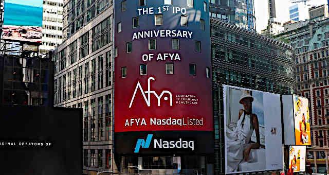 Afya, comemoração de um ano de IPO na Nasdaq