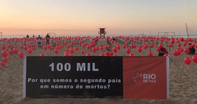 (Manifestação ONG Rio PAZ