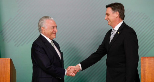Michel Temer & Jair Bolsonaro
