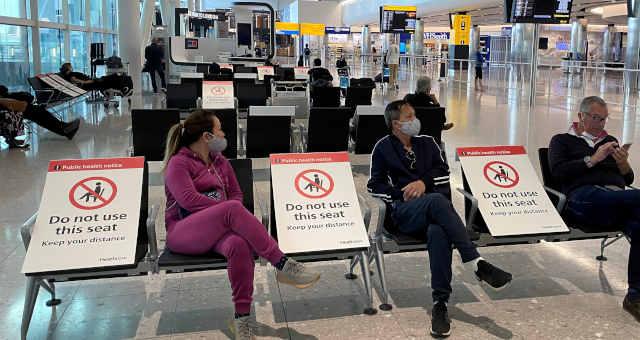 O aeroporto de Heathrow no Reino Unido