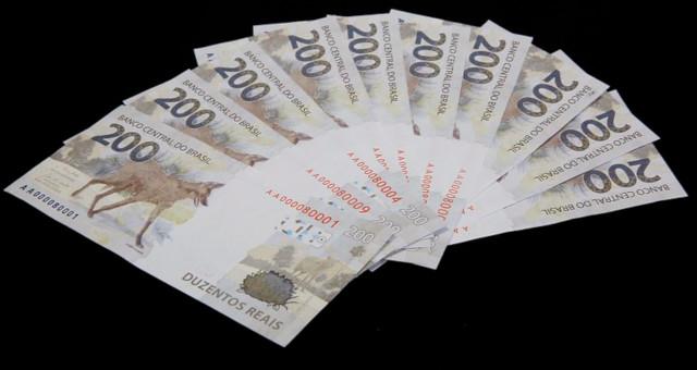Real Moedas Cédula de R$ 200