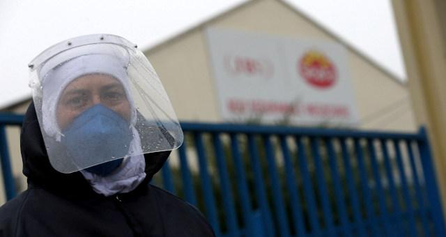 JBS Seara Frigorífico Máscara Coronavírus