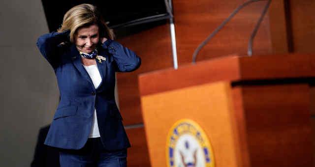 Presidente da Câmara dos Estados Unidos, Nancy Pelosi.