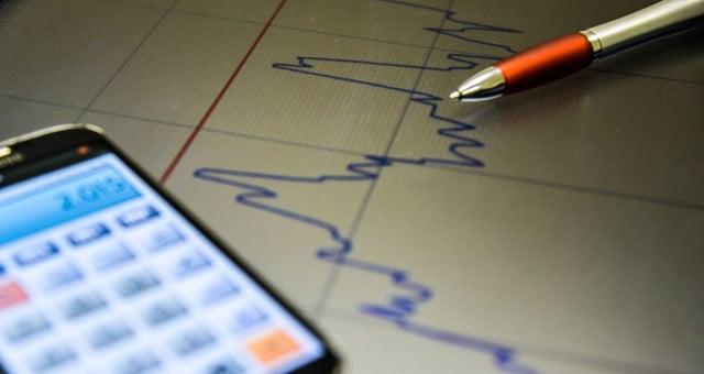 Finanças Pessoais Economia Gráfico Calculadora Mercados