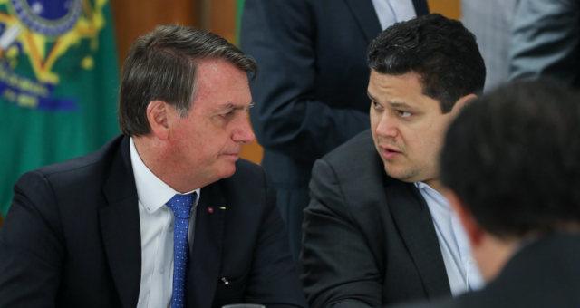 Alcolumbre e Bolsonaro