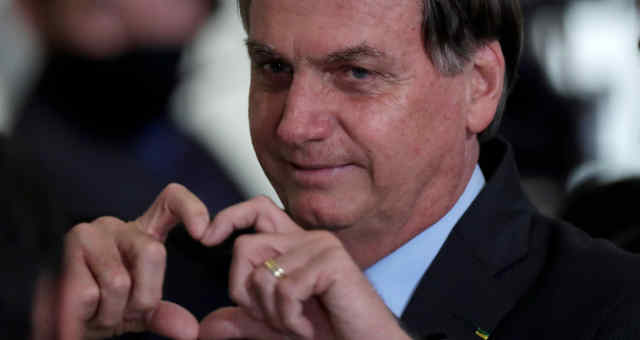 Presidente Jair Bolsonaro após cerimônia no Palácio do Planalto 30/09/2020