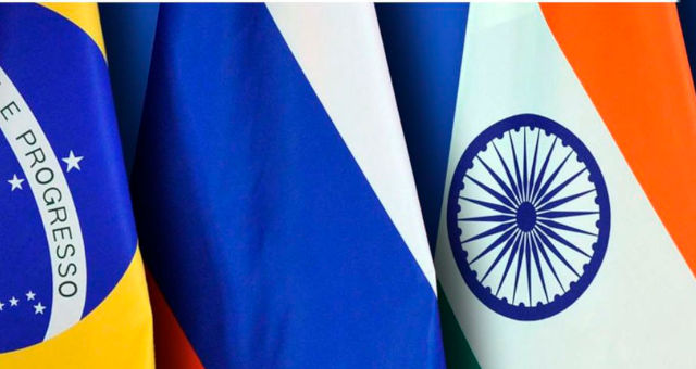Brics Bandeiras Brasil Rússia Índia