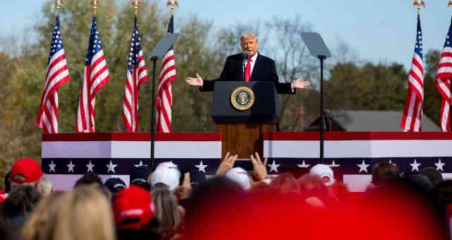 Donald Trump em campanha pela reeleição de 2020