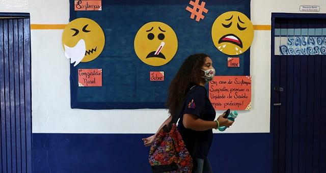 Estudante, Máscara, Coronavírus