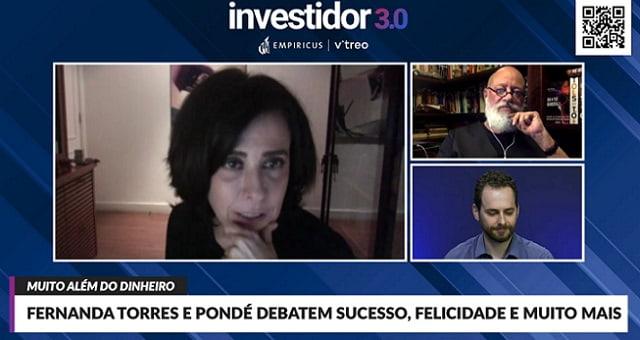 Fernanda Torres, Luiz Felipe Pondé, Evento Investidor 3.0